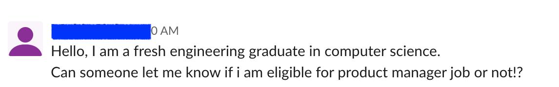 Fresh Engineering Graduate - Email